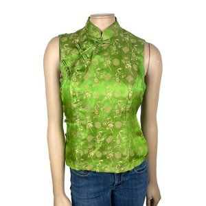 Cheongsam Green Asian Top Medium